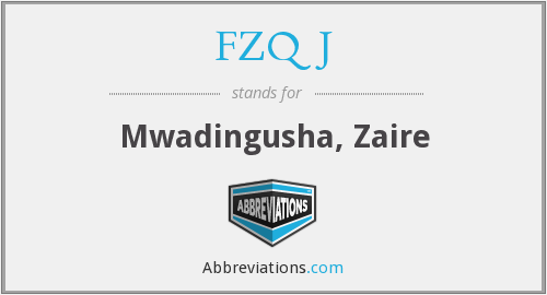 FZQJ - Mwadingusha, Zaire