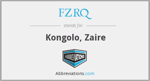 FZRQ - Kongolo, Zaire