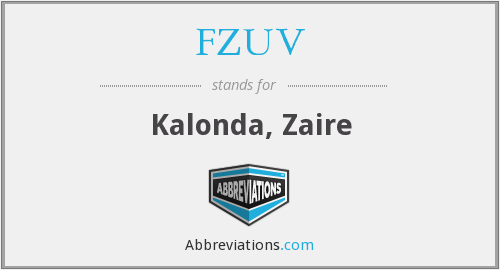 FZUV - Kalonda, Zaire