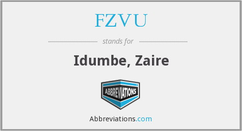 FZVU - Idumbe, Zaire