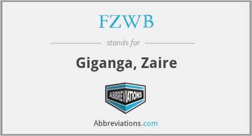 FZWB - Giganga, Zaire