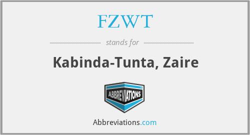 FZWT - Kabinda-Tunta, Zaire