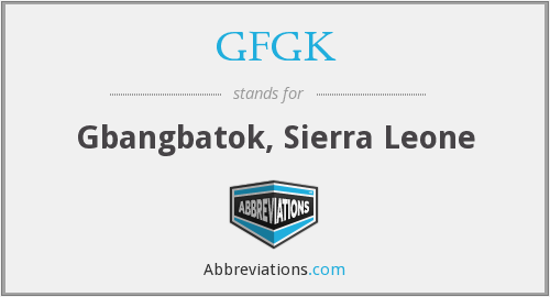 What does GFGK stand for?