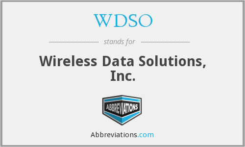 What does WDSO stand for?
