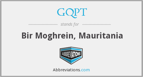 GQPT - Bir Moghrein, Mauritania