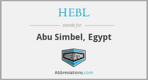 What does HEBL stand for?
