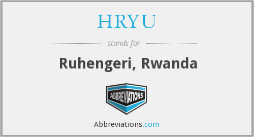 What does HRYU stand for?