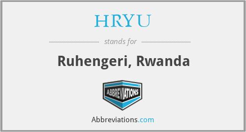 HRYU - Ruhengeri, Rwanda