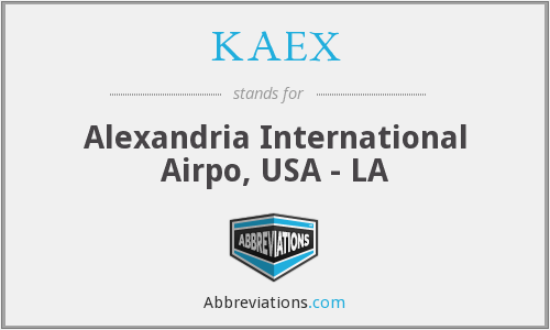 KAEX - Alexandria International Airpo, USA - LA