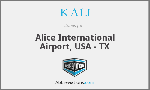 KALI - Alice International Airport, USA - TX