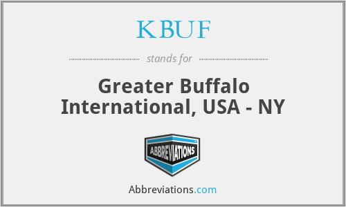 KBUF - Greater Buffalo International, USA - NY