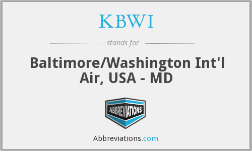 KBWI - Baltimore/Washington Int'l Air, USA - MD