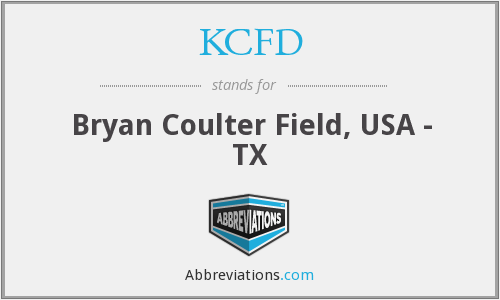 KCFD - Bryan Coulter Field, USA - TX
