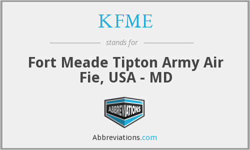 KFME - Fort Meade Tipton Army Air Fie, USA - MD