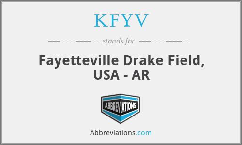 KFYV - Fayetteville Drake Field, USA - AR