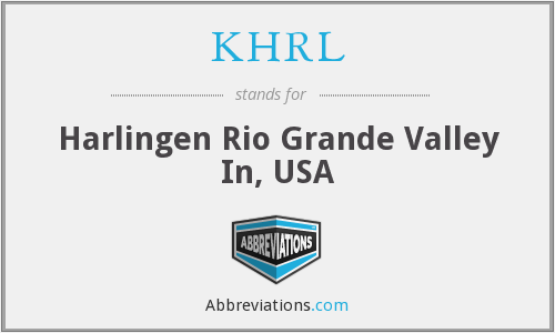 KHRL - Harlingen Rio Grande Valley In, USA