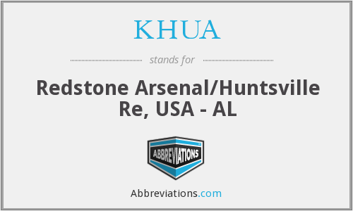 KHUA - Redstone Arsenal/Huntsville Re, USA - AL