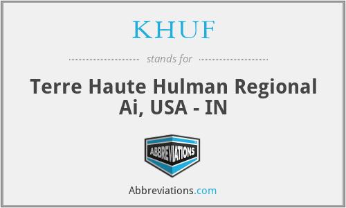 KHUF - Terre Haute Hulman Regional Ai, USA - IN