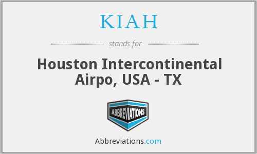 KIAH - Houston Intercontinental Airpo, USA - TX