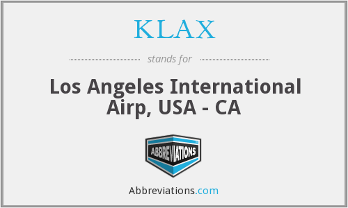 What does KLAX stand for?