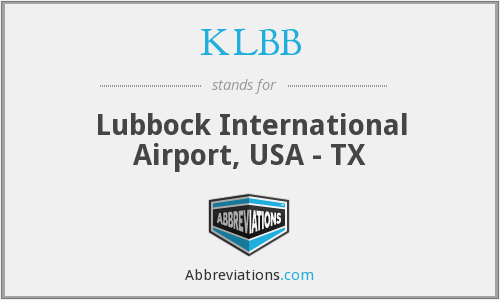 KLBB - Lubbock International Airport, USA - TX