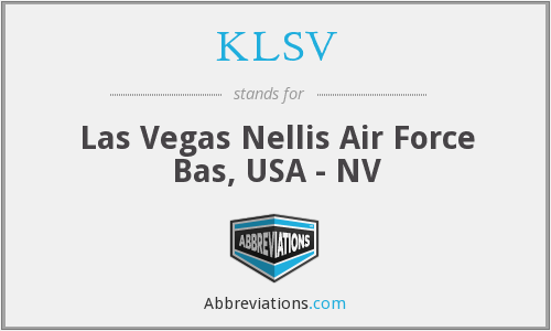 KLSV - Las Vegas Nellis Air Force Bas, USA - NV