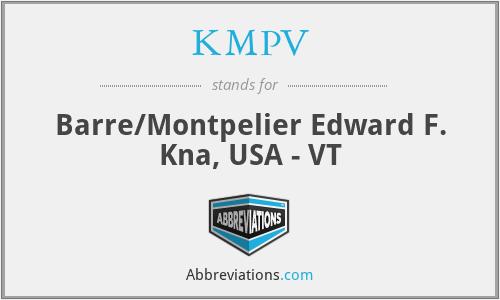 KMPV - Barre/Montpelier Edward F. Kna, USA - VT