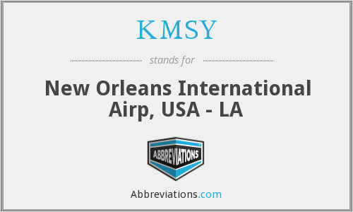 KMSY - New Orleans International Airp, USA - LA