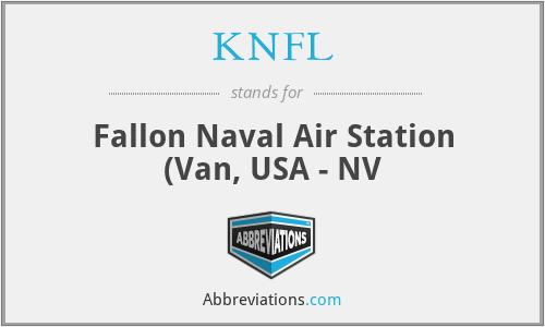 KNFL - Fallon Naval Air Station (Van, USA - NV