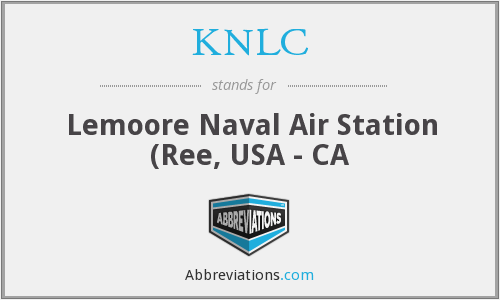 KNLC - Lemoore Naval Air Station (Ree, USA - CA