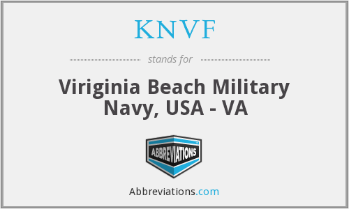 KNVF - Viriginia Beach Military Navy, USA - VA