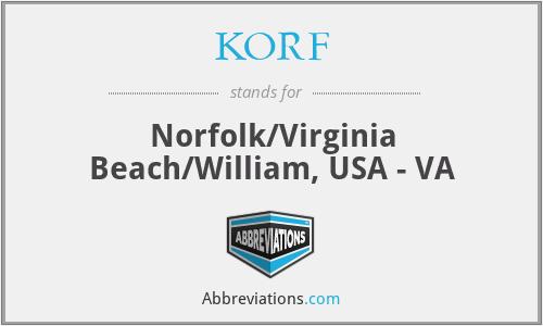 KORF - Norfolk/Virginia Beach/William, USA - VA