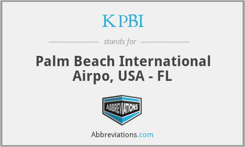 KPBI - Palm Beach International Airpo, USA - FL