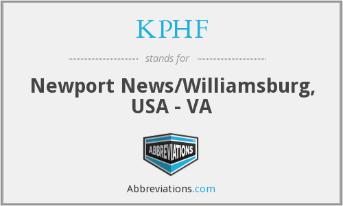 KPHF - Newport News/Williamsburg, USA - VA