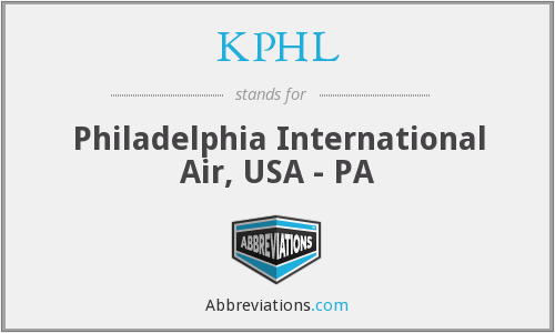 KPHL - Philadelphia International Air, USA - PA