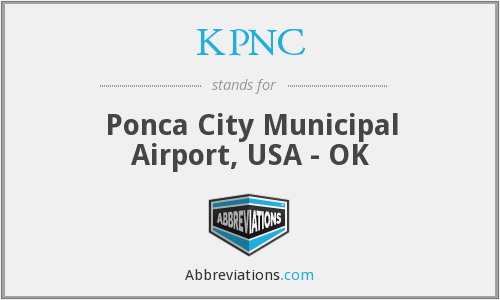 KPNC - Ponca City Municipal Airport, USA - OK