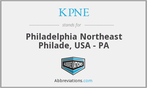 KPNE - Philadelphia Northeast Philade, USA - PA