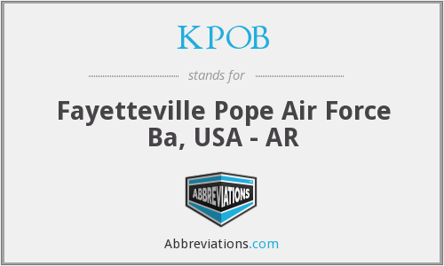 KPOB - Fayetteville Pope Air Force Ba, USA - AR