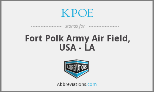 KPOE - Fort Polk Army Air Field, USA - LA