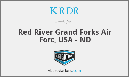 What does KRDR stand for?