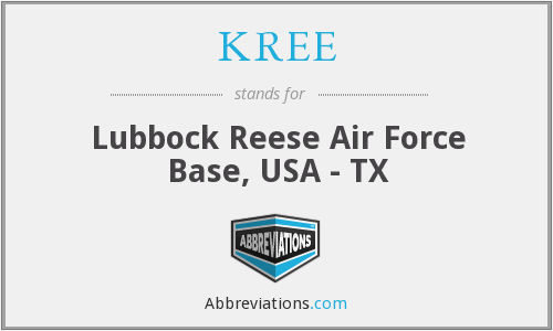KREE - Lubbock Reese Air Force Base, USA - TX