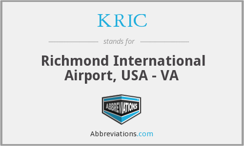 KRIC - Richmond International Airport, USA - VA
