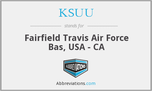 KSUU - Fairfield Travis Air Force Bas, USA - CA