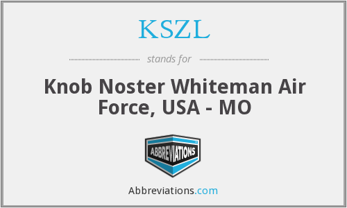 KSZL - Knob Noster Whiteman Air Force, USA - MO
