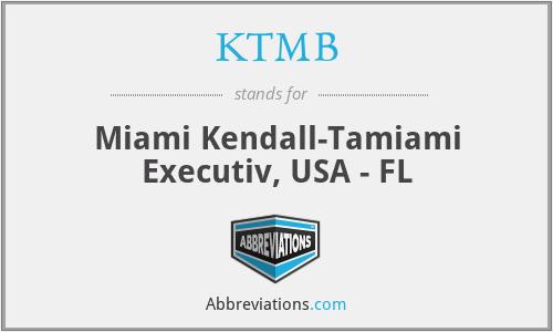 KTMB - Miami Kendall-Tamiami Executiv, USA - FL