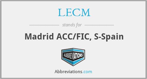 LECM - Madrid ACC/FIC, S-Spain