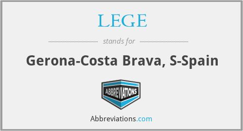 LEGE - Gerona-Costa Brava, S-Spain