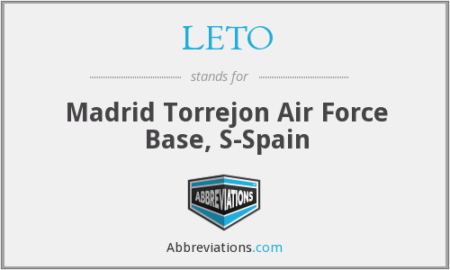 LETO - Madrid Torrejon Air Force Base, S-Spain