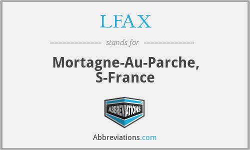 LFAX - Mortagne-Au-Parche, S-France