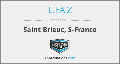 LFAZ - Saint Brieuc, S-France